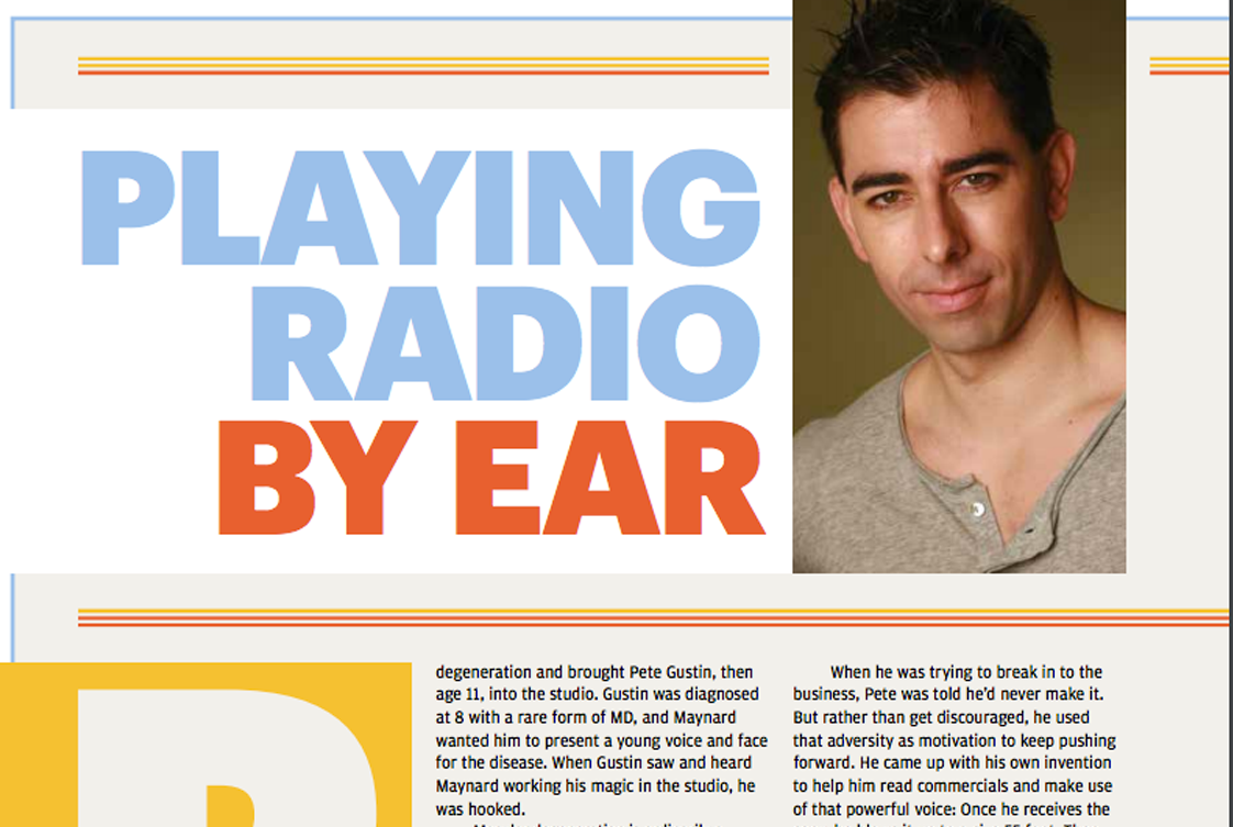 Pete in Radio Ink Magazine